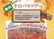 秋の紅葉半日バスツアー